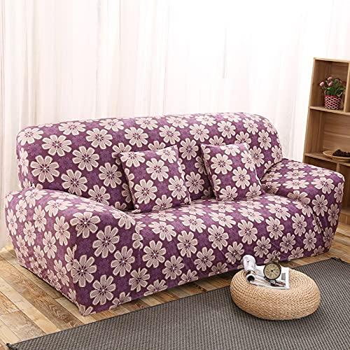 WXQY Funda de sofá elástica con Estampado de Mariposas Funda de sofá en Forma de L con Todo Incluido Funda de sillón Funda de sofá Antideslizante Envuelta herméticamente A7 2 plazas