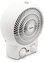 MIDEA Calefactor NF20-16BA, 2 niveles de calor (1200/2000 W) + nivel de frío y protección contra sobrecalentamiento