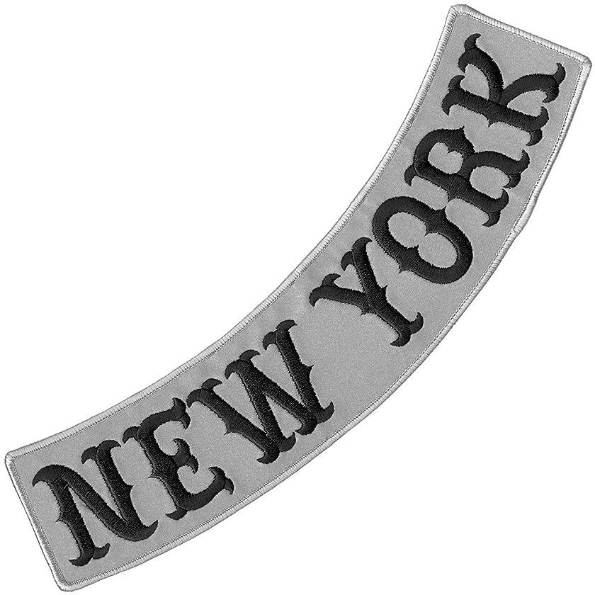 VEGASBEE NEW YORK REFLECTIVE EMBROIDERED PATCH BIKER JACKET DECORATIVE LOW ROCKER 12