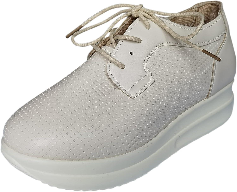 PMUYBHF Platform Sneaker for Women Fashion Low Top Lace up Casua