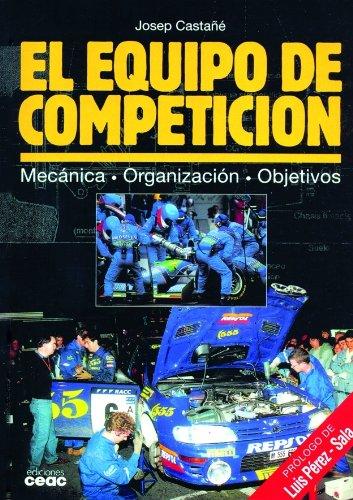 El equipo de competición: Mecánica · Organización · Objetivos (Motor)