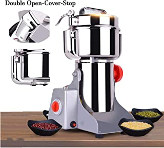 CGOLDENWALL 700g Safety Upgraded Electric Grain Grinder Mill High-speed Spice Herb Mill Commercial Powder Machine Dry Cere...