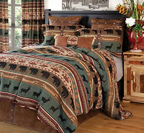 Carstens Skagit River Comforter Set Queen Green product image