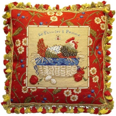 Deluxe Pillows Red Framed Chicken Facing Nee x - Ranking TOP7 21 Right in. Ranking TOP5