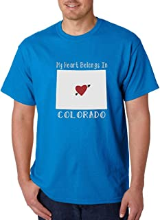 My Heart Belongs in Colorado T-shirt Colorado State Home Shirts