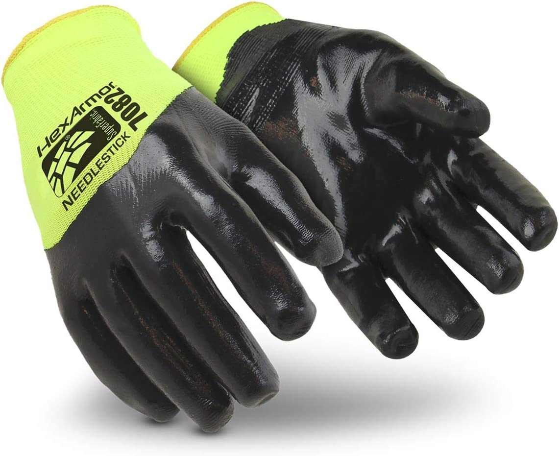 latest HexArmor SharpsMaster HV 7082 Nitrile Gloves Work Safety Coated 55% OFF