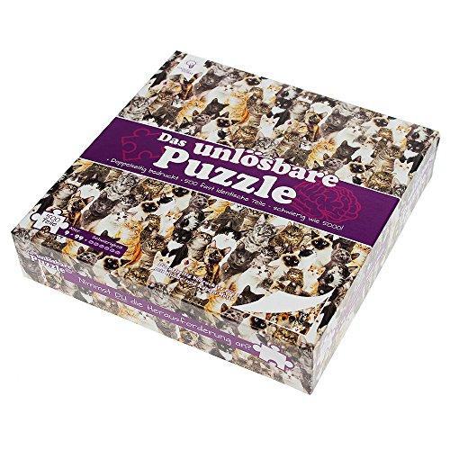 Gadget Storm Unlösbares Puzzle mit Hunde & Katzen Motiv, 500 beidseitig Bedruckte und Fast identische Teile, Knobelspiel ab 9 Jahren