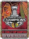 NHL Chicago Blackhawks Commemorative Woven Tapestry Throw Blanket, 48' x 60'