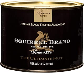 SQUIRREL BRAND Artisan Nuts, Italian Black Truffle Almonds, 18 oz Gift Tin