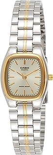ساعة كوارتز للنساء من كاسيو بعرض انالوج وسوار ستانلس ستيل