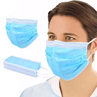 NJ058 50 PCS Disposable Filter 3-ply Face Protective Cover Personal Protection Dust-Proof Anti Spittle Eye (50Masks)