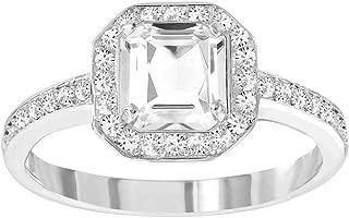 SWAROVSKI White Engagement Ring Attract Light Square Large/58/8-5345710
