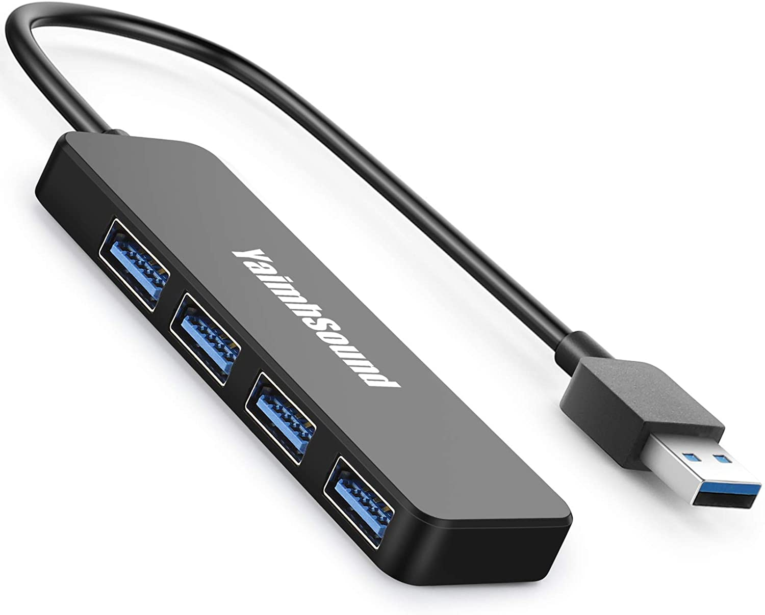 4-Port USB Hub 3.0, T-Sound USB Splitter for Laptop, Ps4 Keyboard and Mouse Adapter for Dell, Asus, HP, MacBook Air, Surface Pro, Acer, Xbox, Flash Drive, HDD, Console, Printer, Camera