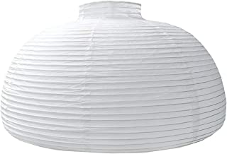 "TopAAA 18"" White Round Paper lantern, Pendant Lamp Shade, Hanging Paper Decorations (White-18inch)"