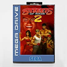 HTTHa Ltd Streets Of Rage 2 16 Bit Sega Md Game Card With Retail Box For Sega Mega Drive For Genesis