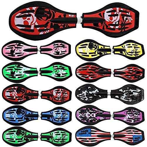 FunTomia Waveboard Original Mach1 Kugellager inkl. Tasche und CD (Verschiedene Farbdesigns)