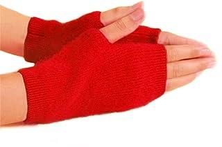 Fuzzy Mink Cashmere Fingerless Winter Gloves Mittens for Women, Warm and Versatile Gloves