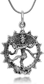 shiva pendant silver