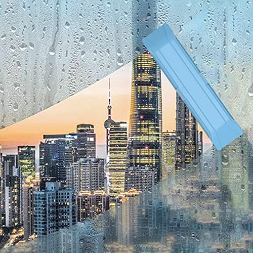 FONDUO - Limpiador magnético de cristales doble lateral para limpiacristales de cristal, herramientas de limpieza magnética, para ventanas simples o dobles (3 a 8 mm), color azul