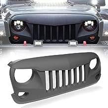 IBACP Matte Black Front Eagle Eye Grille Grid Grill Built-in Mesh 2007-2018 Jeep Wrangler JK JKU
