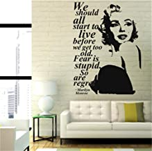 Umondon Wall Decal Sticker Art Mural Home Dcor Quote Marilyn Monroe Quote Regret Fashion Decor Decor