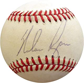 Nolan Ryan Signed Auto Official NL Baseball Mets, Rangers Vintage Playing Days Signature - Beckett Certified