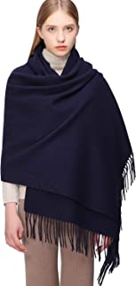 RIIQIICHY 100% Wool Scarf Pashmina Shawls and Wraps for Women Cashmere Warm Winter More Thicker Soft Scarves