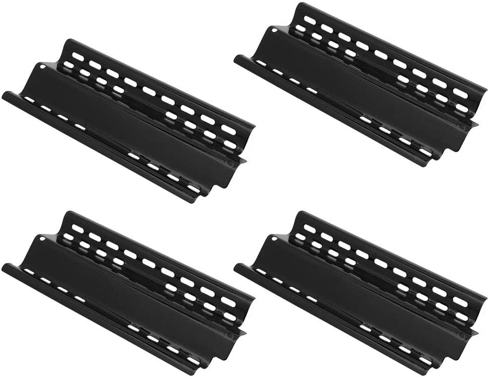 Stainless Steel 4Pcs Heat Plates All items free Max 64% OFF shipping Black Grill Durable Adjustable
