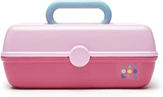 Caboodles Pretty in Petite Light Pink Lid and Hot Pink Base Vintage Case, 1 Pound