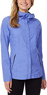 Cool Womens Performance Rain Jacket Baja Blue Melange Small