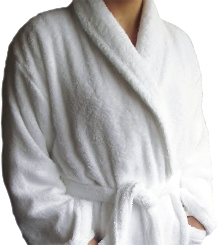 BgEurope Hotel and SPA Edition Shawl Collar White Terry Bathrobe  100% Cotton (XL)