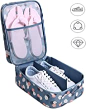AB SALES Shoe Storage Bag for Travel,Waterproof Portable Shoes Bag,Holds 3 Pair of Shoes(Casual Shoes +Sandals + Slippers) Foldable Shoes Organizer Pouches, Multi Colour&Design