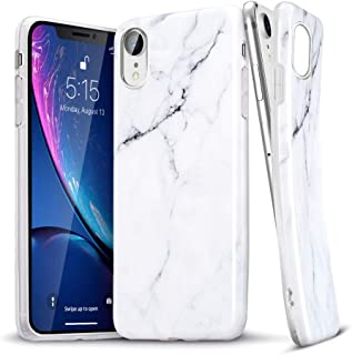 ESR Marble Case for iPhone XR, Slim Soft Flexible TPU Marble Pattern Cover for The iPhone XR 6.1'' (Released in 2018), White Sierra