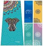 Ucooly Asciugamano Yoga,Antiscivolo e Asciugamano Estremamente Assorbente con Facone Spray per Regalo Gratuito183x63cm