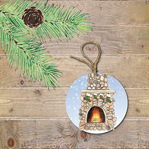 Yilooom Kerst Ornament voor Familie, Nieuwe Familie, Nieuwe Baby, Open haard, Laag, Gepersonaliseerd, Kerst Ornament, Familie Ornament