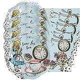 Wonderparty Kit piattini e tovaglioli per Festa Tema Alice nel Paese delle Meraviglie Versione Azzurro