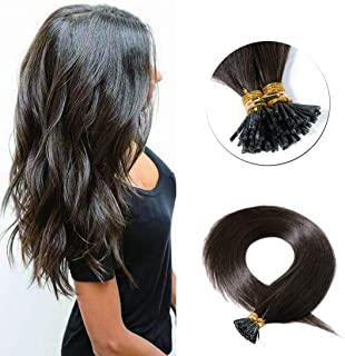 SEGO Pre Bonded Keratin Stick/I Tip Remy Human Hair Extension Cold Fusion Hair Piece for Women Smooth Straight 100 Strands/pack #4 Medium Brown 22 inches 50g