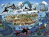 Mengle Rompecabezas 1000 Piezas Niños Y Adultos DIY Jigsaw Puzzle Juego Education Juguetes Classic Rompecabezas Decoración El Hogar Regalo Happy Submarine Tour