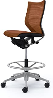 オカムラ デスクチェア オフィスチェア バロン ローバック ハイポジションチェア 肘なし ブラウン CP38CR-FEH8