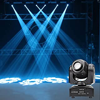 60W LED Stage Light Moving Head 7 Colours and 7 Gobos DJ Lights 9/11 Channel Rainbow Pattern Lamp for Disco KTV Club Party...