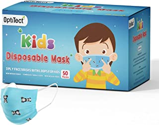 50 PCS Kids Baby Masks Boys Girls Disposable 3 Layers Children Mask Dust proof Breathable Face Protection with Meltblown C...