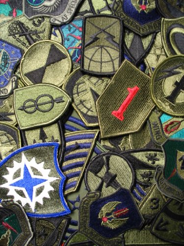 Lot of 50 Assorted U.S. Military Army & Air Force Subdued Insignia Patches