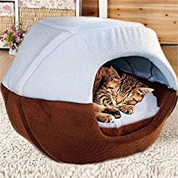FFMODE Cozy Pet Dog Cat Cave Mongolian Yurt Shaped House Bed