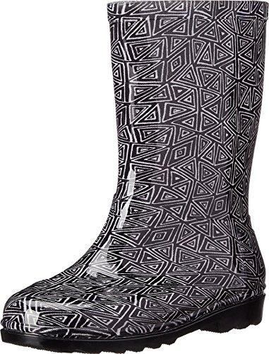 TOMS Rain Boots Black Geo PVC 10006263 Youth 13