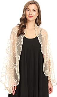 Anna-Kaci See Through Floral Mesh Bolero Cover Up Shrug Cardigan Shawl Wrap For Women