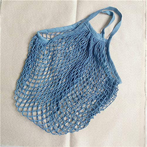 New Mesh Bag String Einkaufstasche Wiederverwendbare Obst Aufbewahrung Handtasche Totes Frauen Shopping Net Bag Einkaufstasche Cotton Woven 32x38x15CM