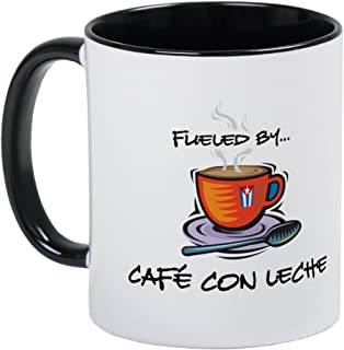 CafePress Fueled By Cafe Con Leche Mug Unique Coffee Mug, Coffee Cup