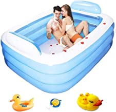 PVC Huishoudelijke Children's opblaasbaar zwembad for volwassenen Portable Pools Dikke Family Party Kiddie Pool (Color : B...