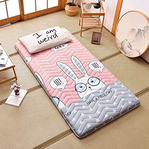 Colchón de futón grueso, doble individual, tatami, tapete para el suelo, cálido, enrollable, para dormitorio, colchón, japonés, plegable, para dormir, para niños, cama, tumbona, altura, 150 x 200 cm