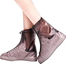 YTXTT Botas de chuva, botas de chuva impermeáveis, antiderrapantes, capas de sapatos reutilizáveis com sola grossa para di...